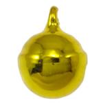 Tunxh Bell varëse, pikturë, i verdhë, , nikel çojë \x26amp; kadmium falas, 13x10mm, : 2mm, 1000PC/Qese,  Qese