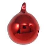 Tunxh Bell varëse, pikturë, i kuq, , nikel çojë \x26amp; kadmium falas, 15x12mm, : 2mm, 1000PC/Qese,  Qese