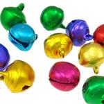 Aluminum varëse Bell, Zile, pikturë, ngjyra të përziera, 13x12x10mm, : 2mm, 1000PC/Qese,  Qese