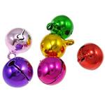 Tunxh Bell varëse, pikturë, ngjyra të përziera, , nikel çojë \x26amp; kadmium falas, 17x14mm, : 2.5mm, 1000PC/Qese,  Qese