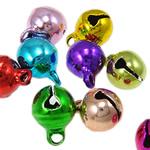 Tunxh Bell varëse, pikturë, ngjyra të përziera, , nikel çojë \x26amp; kadmium falas, 10x8mm, : 1.5mm, 5000PC/Qese,  Qese