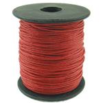 Cord Wax, i kuq, 1mm, :80Oborr,  PC