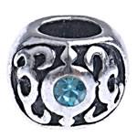 Beads European aliazh zink, Alloy zink, Daulle, pa karrem & me diamant i rremë, , nikel çojë \x26amp; kadmium falas, 9.50x7.50mm, : 4.5mm, 10PC/Qese,  Qese