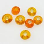 Silbereinzug Glas Rocailles, Glas-Rocailles, orange, 2x1.90mm, Bohrung:ca. 1mm, verkauft von Tasche
