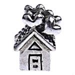 Beads European aliazh zink, Alloy zink, Shtëpi, pa karrem, , nikel çojë \x26amp; kadmium falas, 14.50x9.50x10mm, : 5mm, 10PC/Qese,  Qese