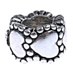 Beads European aliazh zink, Alloy zink, Rondelle, pa karrem, , nikel çojë \x26amp; kadmium falas, 10x7mm, : 5mm, 10PC/Qese,  Qese