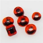 Ngjyra rreshtuar Farë Glass Beads, Seed Glass Beads, Rondelle, thellë lapis lazuli, 2x1.90mm, : 1mm,  Qese