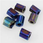 Rainbow Seed Glass Beads, Tub, 2x3mm, : 1mm,  Qese