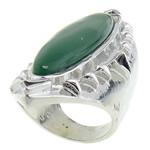 Ring Finger gur i çmuar, Malajzia Jade, 23.5x61mm, 18.5mm, :7.5, 10PC/Qese,  Qese