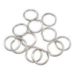 Iron Mbyllur Ring Jump, Hekur, Petull e ëmbël në formë gjevreku, ngjyrë platin praruar, asnjë, , nikel çojë \x26amp; kadmium falas, 0.90x7mm, : 5.5mm, 12000PC/Qese,  Qese
