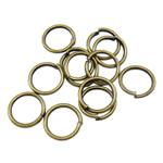 Iron Mbyllur Ring Jump, Hekur, Petull e ëmbël në formë gjevreku, Ngjyra antike bronz i praruar, asnjë, , nikel çojë \x26amp; kadmium falas, 0.90x8mm, : 6mm, 8850PC/Qese,  Qese