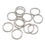 Iron Mbyllur Ring Jump, Hekur, Petull e ëmbël në formë gjevreku, ngjyrë platin praruar, asnjë, , nikel çojë \x26amp; kadmium falas, 1x8mm, : 6mm, 8850PC/Qese,  Qese