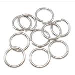 Iron Mbyllur Ring Jump, Hekur, Petull e ëmbël në formë gjevreku, ngjyrë platin praruar, asnjë, , nikel çojë \x26amp; kadmium falas, 0.80x6mm, : 4.5mm, 16666PC/Qese,  Qese