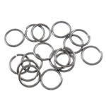 Iron Mbyllur Ring Jump, Hekur, Petull e ëmbël në formë gjevreku, plumbit ngjyrë të zezë praruar, asnjë, , nikel çojë \x26amp; kadmium falas, 0.70x6mm, : 4.5mm, 16666PC/Qese,  Qese