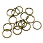 Iron Mbyllur Ring Jump, Hekur, Petull e ëmbël në formë gjevreku, Ngjyra antike bronz i praruar, asnjë, , nikel çojë \x26amp; kadmium falas, 0.70x6mm, : 4.5mm, 16666PC/Qese,  Qese