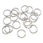 Iron Mbyllur Ring Jump, Hekur, Petull e ëmbël në formë gjevreku, ngjyrë platin praruar, asnjë, , nikel çojë \x26amp; kadmium falas, 0.70x5mm, : 3.5mm, 12000PC/Qese,  Qese