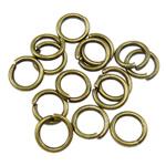 Iron Mbyllur Ring Jump, Hekur, Petull e ëmbël në formë gjevreku, Ngjyra antike bronz i praruar, asnjë, , nikel çojë \x26amp; kadmium falas, 0.80x5mm, : 3mm, 14200PC/Qese,  Qese