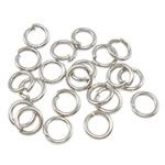 Iron Mbyllur Ring Jump, Hekur, Petull e ëmbël në formë gjevreku, ngjyrë platin praruar, asnjë, , nikel çojë \x26amp; kadmium falas, 0.70x4mm, : 3mm, 20000PC/Qese,  Qese