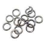 Iron Mbyllur Ring Jump, Hekur, Petull e ëmbël në formë gjevreku, plumbit ngjyrë të zezë praruar, asnjë, , nikel çojë \x26amp; kadmium falas, 0.70x4mm, : 3mm,  Qese