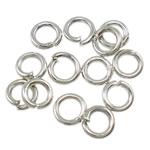 Iron Mbyllur Ring Jump, Hekur, Petull e ëmbël në formë gjevreku, ngjyrë platin praruar, asnjë, , nikel çojë \x26amp; kadmium falas, 0.80x4mm, : 2.5mm, 14000PC/Qese,  Qese
