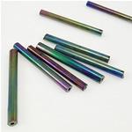 Rainbow Seed Glass Beads, Tub, 3.50x25mm, : 1mm,  Qese