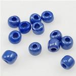 Glänzende Glas-Rocailles, blau, 2x3mm, Bohrung:ca. 1mm, verkauft von Tasche