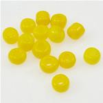 Lustered Glass Beads farë, Seed Glass Beads, i verdhë, 2x3mm, : 1mm,  Qese
