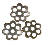 Iron Bead Caps, Hekur, Lule, Ngjyra antike bronz i praruar, asnjë, asnjë, , nikel çojë \x26amp; kadmium falas, 6x1mm, : 1mm, 10000PC/Qese,  Qese