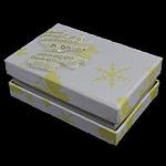 Karton Set bizhuteri Box, Drejtkëndësh, 81x55.50x32mm, 50PC/Shumë,  Shumë