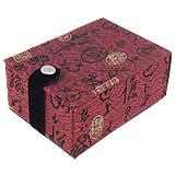 Gjerdan saten Box, with Velveteen, Drejtkëndësh, i kuq, 70x102x50mm, 10PC/Shumë,  Shumë