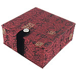 Saten byzylyk Box, with Velveteen, Katror, 102x102x50mm, 10PC/Shumë,  Shumë