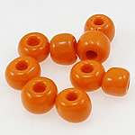 Opaque Glass Beads Seed, Seed Glass Beads, portokall, 3x3.60mm, : 1mm,  Qese