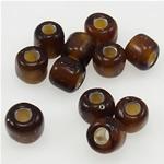 Silver Beads rreshtuar qelqi farë, Seed Glass Beads, 3x3.60mm, : 1mm,  Qese