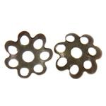 Iron Bead Caps, Hekur, Lule, Ngjyra antike bronz i praruar, asnjë, asnjë, , nikel çojë \x26amp; kadmium falas, 8x1.50mm, : 1.5mm, 10000PC/Qese,  Qese