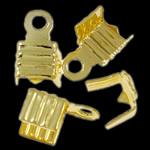 Këshilla Cord Hekuri, ngjyrë ari praruar, asnjë, , nikel çojë \x26amp; kadmium falas, 7.50x5x4mm, : 1.3mm, 10000PC/Qese,  Qese