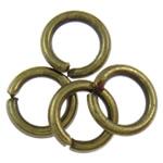 Iron Mbyllur Ring Jump, Hekur, Petull e ëmbël në formë gjevreku, Ngjyra antike bronz i praruar, asnjë, , nikel çojë \x26amp; kadmium falas, 1x6mm, : 4mm, 16666PC/Qese,  Qese