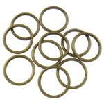 Iron Mbyllur Ring Jump, Hekur, Petull e ëmbël në formë gjevreku, Ngjyra antike bronz i praruar, asnjë, , nikel çojë \x26amp; kadmium falas, 1x10mm, : 8mm, 6060PC/Qese,  Qese