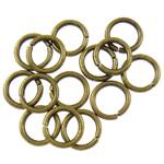 Iron Mbyllur Ring Jump, Hekur, Petull e ëmbël në formë gjevreku, Ngjyra antike bronz i praruar, asnjë, , nikel çojë \x26amp; kadmium falas, 1.20x8mm, : 5.5mm, 8850PC/Qese,  Qese
