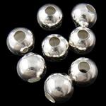 Beads bizhuteri Hekuri, Round, Ngjyra argjend praruar, asnjë, , nikel çojë \x26amp; kadmium falas, 8mm, : 3mm, 5000PC/Qese,  Qese
