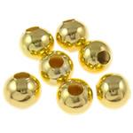 Beads bizhuteri Hekuri, Round, ngjyrë ari praruar, asnjë, , nikel çojë \x26amp; kadmium falas, 10mm, : 4mm, 2000PC/Qese,  Qese