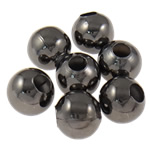 Beads bizhuteri Hekuri, Round, plumbit ngjyrë të zezë praruar, asnjë, , nikel çojë \x26amp; kadmium falas, 4mm, : 1.5mm, 10000PC/Qese,  Qese