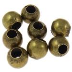 Beads bizhuteri Hekuri, Round, Ngjyra antike bronz i praruar, asnjë, , nikel çojë \x26amp; kadmium falas, 5mm, : 2mm, 10000PC/Qese,  Qese