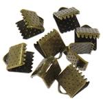 Iron Ribbon rekrutues, Hekur, Drejtkëndësh, Ngjyra antike bronz i praruar, asnjë, , nikel çojë \x26amp; kadmium falas, 7.50x6x5.50mm, : 2x1mm, 10000PC/Qese,  Qese