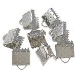 Iron Ribbon rekrutues, Hekur, Drejtkëndësh, ngjyrë platin praruar, asnjë, , nikel çojë \x26amp; kadmium falas, 7.50x6x5.50mm, : 2x1mm, 5000PC/Qese,  Qese