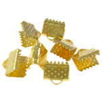 Iron Ribbon rekrutues, Hekur, Drejtkëndësh, ngjyrë ari praruar, asnjë, , nikel çojë \x26amp; kadmium falas, 8x7x6mm, : 2x1mm, 3000PC/Qese,  Qese