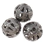 Beads bizhuteri Hekuri, Round, plumbit ngjyrë të zezë praruar, asnjë, , nikel çojë \x26amp; kadmium falas, 6mm, : 0.7mm, 10000PC/Qese,  Qese