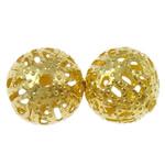 Beads bizhuteri Hekuri, Round, ngjyrë ari praruar, asnjë, , nikel çojë \x26amp; kadmium falas, 8mm, : 0.7mm, 10000PC/Qese,  Qese