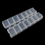 Nail bizhuteri Box, Plastik, Drejtkëndësh, asnjë, i tejdukshëm, e bardhë, 155x34.50x18mm,  Palë
