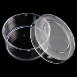 Nail bizhuteri Box, Plastik, Round Flat, asnjë, i tejdukshëm, e bardhë, 134x18mm, 16PC/Kuti,  Kuti