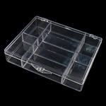 Nail bizhuteri Box, Plastik, Drejtkëndësh, asnjë, i tejdukshëm, e bardhë, 119x98x23mm,  PC
